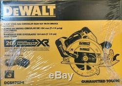 Dewalt DCS570P1 7-1/4 Cordless Circular Saw Kit wth Brake 20v Brushless 2019 New