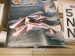 Discontinued Great Planes Super Skybolt 57 R/c Biplane Balsa Model Airplane Kit