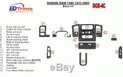Dodge Ram 1500 2500 3500 Interior Wood Dash Trim Kit Set 2002 2003 2004 2005