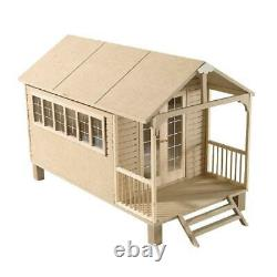 Dolls House Chalet Summer House Flat Pack MDF For 112 Scale Miniatures