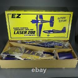 EZ LASER 200 56 Wingspan RC Kit Ready To Fly Airplane 80's New Old Stock