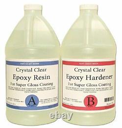 Epoxy Resin & Hardener Kit for Gloss Coating on Wood Metal Stone (Pk of 2) 128oz