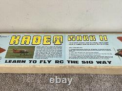 Excellent New Sig Kadet Mark II RC Trainer Airplane Balsa Wood Kit #49