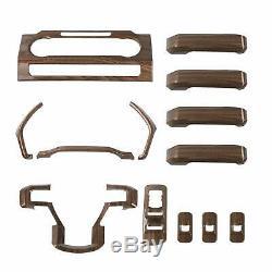 F150 Interior Decoration Trim Kit Accessories for Ford F150 2015-2019 Wood Grain