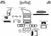 FOR BMW E36 3 SERIES INTERIOR Dash Trim Kit 3M DASH TRIM BURL WOOD 20 PCS 91-98
