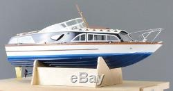 Fairey Huntsman 31 23.5 Boat Model Wooden boat kit and stand 1/16 scale