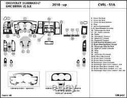 Fits Chevrolet Silverado LT 10-13 Dash Kit Trim Interior Dashboard Wood Carbon