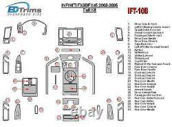 Fits Infiniti FX35 FX45 2003 2004 2005 WOOD DASH KIT TRIM PANEL