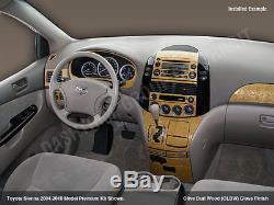 Fits Toyota Sienna 2004 05 06 07 08 09 2010 Wood Dash Trim Kit