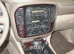 For Toyota Land Cruiser 1998 2002 Burl-wood Dash Trim Kit Interior 19 Pcs