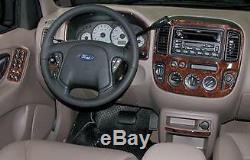 Ford Escape 2001 2002 2003 2004 Wood Carbon Aluminum Dash Trim Kit