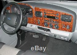 Ford F 250 F 550 Fit 2005 2006 2007 New Style Interior Carbon Wood Dash Trim Kit