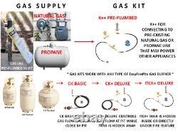 Fr12ck Basic Propane Diy Gas Fire Pit Kit & 12 Lifetime Warranted 316 Burner