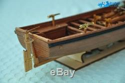 Full Ribs Armed Cannon Boat Scale 1/36 14 Wood Ship Model Kit