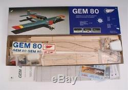 Gem 80 RC Model Plane Balsa & Ply Kit, Quick Build Ideal Low Wing Aerobatic Tr