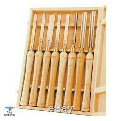 Gouge Lathe Chisel Woodworking Set Wood Tools Lot Carving Turning Art Kit NEW 8x