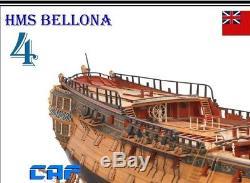 HMS Bellona Scale 1/48 1250mm Session 4 74 Gun Battleship Wood Model Ship Kit