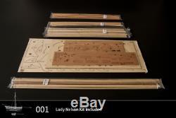 HMS NELSON Scale 164 530mm 20.8 Wood ship model kit DIY
