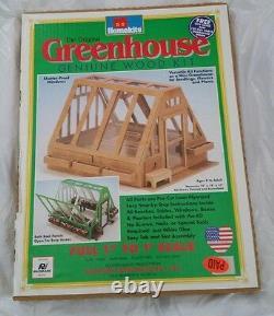 HOMEKITS Radmark Wood Miniature Greenhouse DOLLHOUSE KIT New Flowers Plants mini