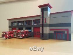 HO scale 1/87 Modern Fire Station Kit. Doors slide open