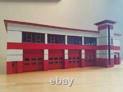 HO scale 1/87 Modern Fire Station Kit. Doors slide open