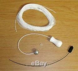Honeycomb CELLULAR Pleated SHADE. 9mm Restring REPAIR KIT with New WOOD Tassel