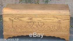 Hope Blanket Cedar Chest Kit Do-It-Yourself Woodworking w// Dovetail Joints DIY