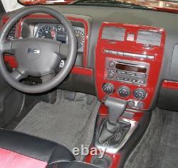Hummer H 2 H-2 Fits 2003 2007 New Style Wood Carbon Alum Dash Trim Parts Kit