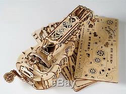 Hurdy-Gurdy Mechanical Musical Instrument Model 3D Wood Puzzle DIY Assembly Kit