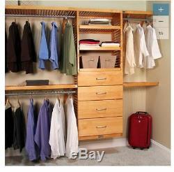 John Louis Home 10-ft x 96-ft Wood Closet Kit Organizer Shelf System Shelves NEW