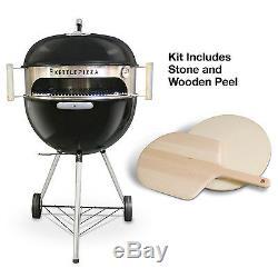 KettlePizza Deluxe Kit Wood Fired Pizza Oven Kit for 18.5 & 22.5 Kettle Grills