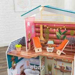 KidKraft Marlow Dollhouse Kids Wooden Dolls House Fits Barbie Sized Dolls