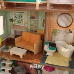 Kidkraft Dottie Dollhouse Wooden Dollhouse Fits Barbie Sized Dolls