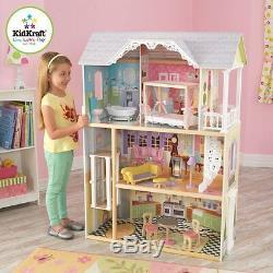 Kidkraft Kaylee Dollhouse Girls Wooden Doll House Fits Barbie Dolls