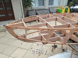 Kids wooden boat frame. Ready to assemble plywood kit