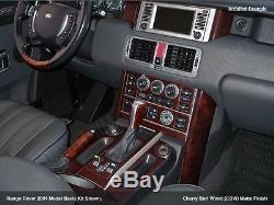 Land Range Rover Hse New Interior Set Burl Wood Dash Trim Kit 2003 2004 2005 06