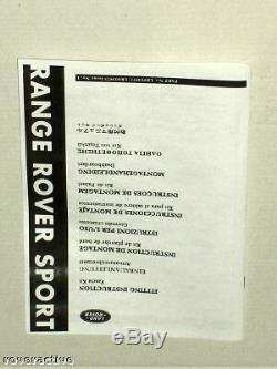 Land Rover OEM Range Rover Sport 2006-2007 Cherry Wood A/C Vent Applique Kit NEW