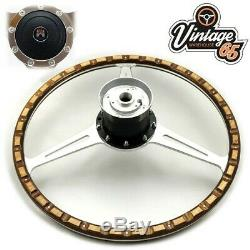 Land Rover Series 2 2a 3 16 Dished Wood Rim Steering Wheel & Boss Fitting Kit