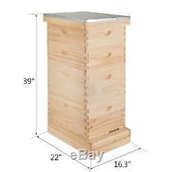 Langstroth Bee Hive 10 Frame 2 Deep 2 Medium Complete Kit Top Quality Beekeepers
