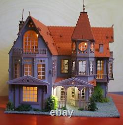 Laser cut ply wood wooden dolls house Fantasy Mansion 3d puzzle / Kit