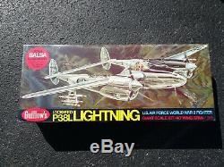 Lockheed P-38l Lighting 1/16 Scale Balsa Wood Rc Airplane Kit New