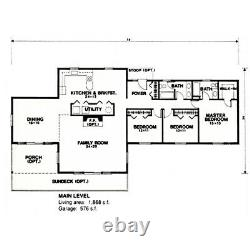 Long Beach Country 36x78 Customizable Shell Kit Home, delivered ready to build
