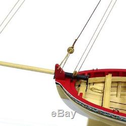 MODEL SHIPWAYS WOOD-PLANKED LONGBOAT KIT WithTOOLS, PAINTS, & GLUE, ONLY $99.99
