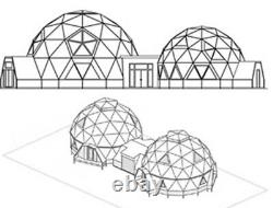 Madera Dome 35' Dia. Customizable Shell Kit Geodesic, delivered ready to build