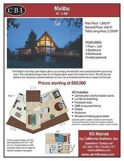 Malibu Prefab A-Frame Kit Home-Pre-fab, panelized, delivered ready to build