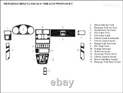 Mercedes Benz Slk 1998 1999 2000 01 03 04 Style Interior Wood Dash Trim Kit 15ps