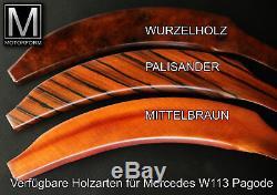 Mercedes SL W113 Pagode 230SL 250SL 280SL Holzsatz 4-teilig wood kit Holz NEU