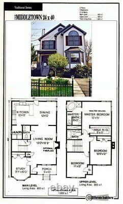 Middleton Narrow Lot 24x40 Customizable Shell Kit Home, delivered ready to build