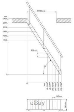 Miller Space Saving Loft Staircase + Balustrade kit, Spruce Wood (SPAIN model)