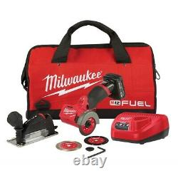 Milwaukee 2522-21XC M12 FUEL 3 in. Compact Cut Off Tool Kit NEW FREE SHIPPING